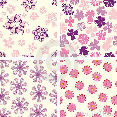 Naive flowers in pattern