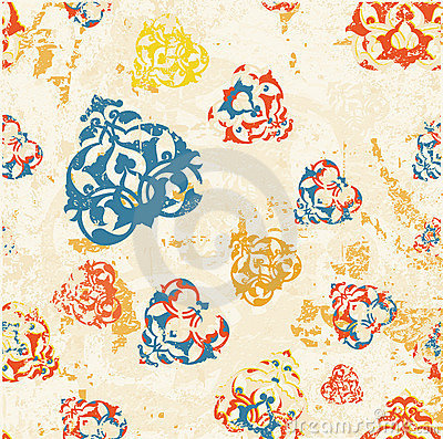 Antique ottoman grungy wallpaper raster design