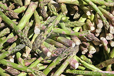 Stack of asparagus