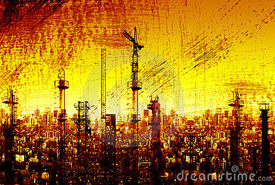 Abstract grunge city