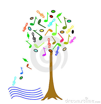 Colorful Music tree