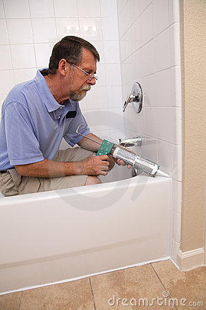 Contractor Caulking Tub