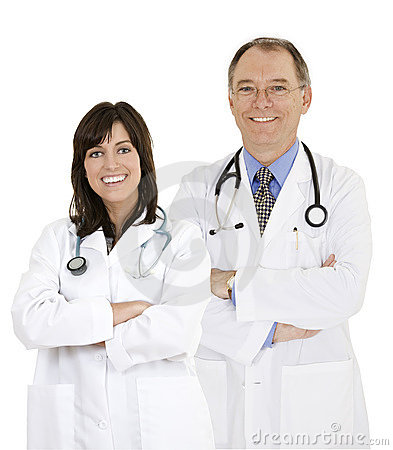 Confident doctors and nurses with their arms crossed displaying some attitude