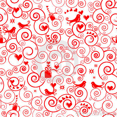 Christmas seamless swirl pattern