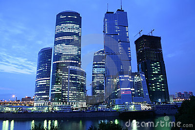 Skyscrapers on the Moscow-river