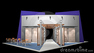 3D render of exhibition stand