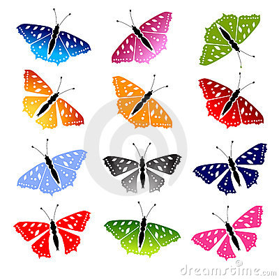 Butterfly set for your design