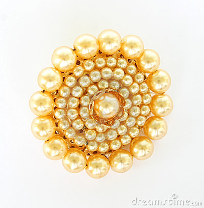 Brooch on white.