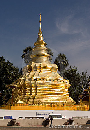 Golden Stupa in Thailand