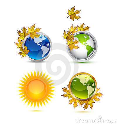 Autumn Earth icons