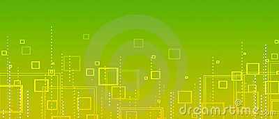 Yellow-green  abstract background of squares