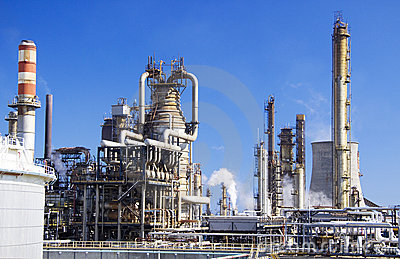 Large oil refinery in Italy