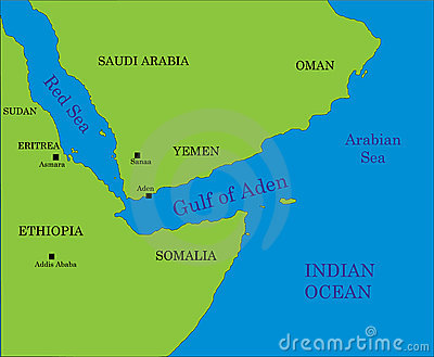Gulf of Aden map