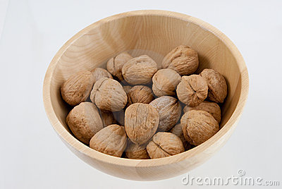 Bowl with walnuts