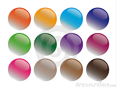 Round glass buttons illustration