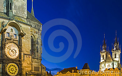 Astronomical Clock & Tyn Church