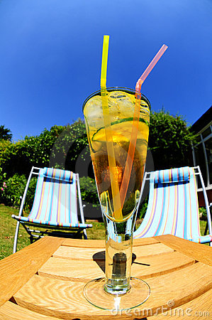 Cool drink on hot day