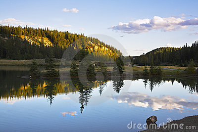 The well-known Cascade lakes. Sunrise