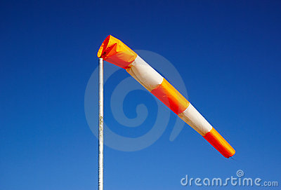 Windsock against clear sky