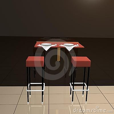 Reserved table for two