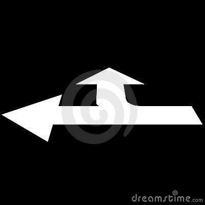 Road sectoring arrow straight
