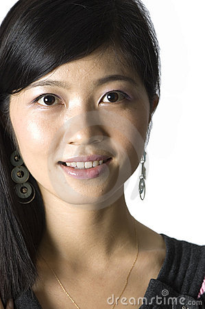 Smiling Chinese girl - portrait