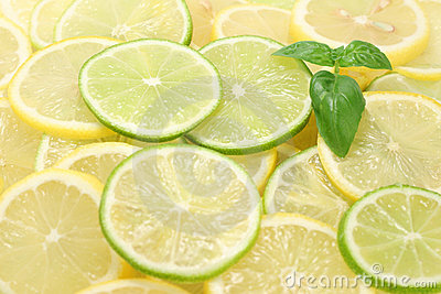 Lemon an lime slices