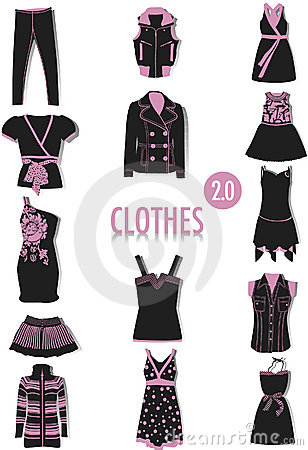 Clothes silhouettes 2