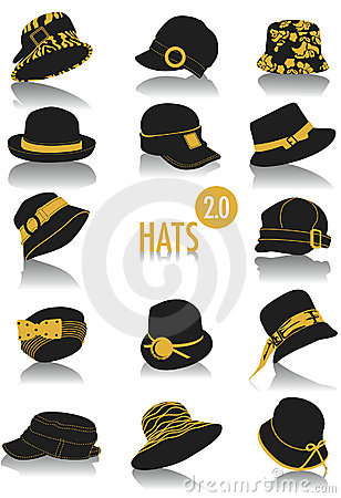 Hats silhouettes 2