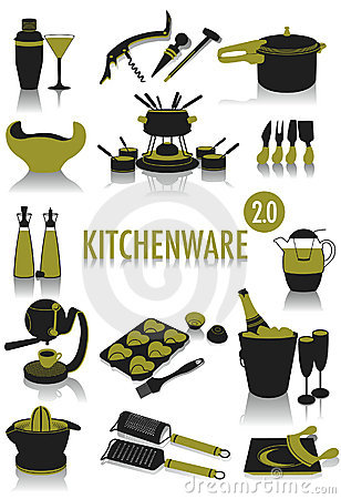 Kitchenware silhouettes