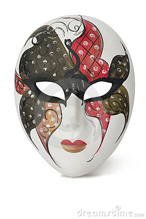 Venetian Mask on white