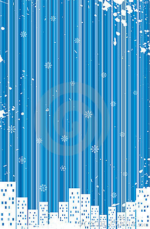 Grunge retro winter background