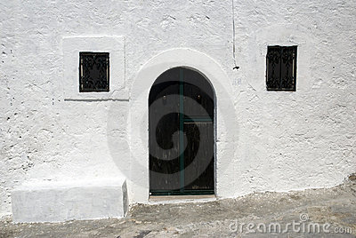 Italian house - Green door and windows