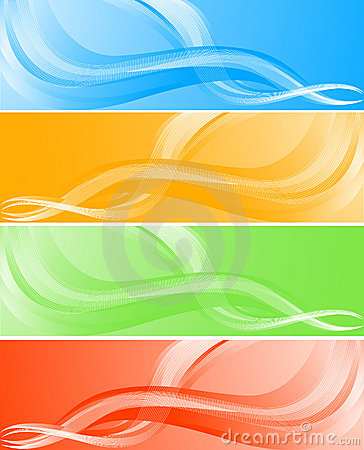 Vector wave banners