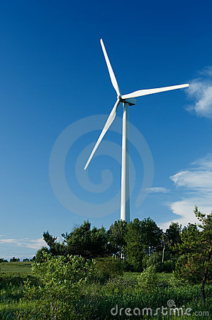 Wind turbine in Quebec