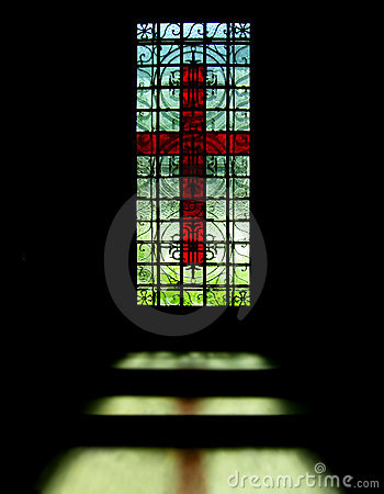 Cross on the window