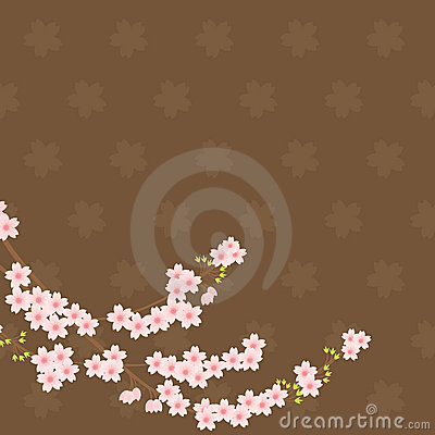 Sakura Background - Brown