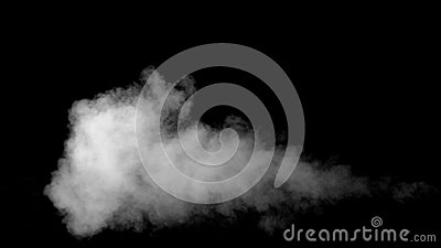 White Water Vapour on Black Background