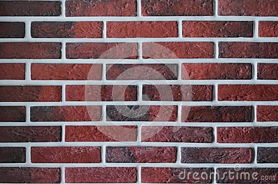 Red brickwork .