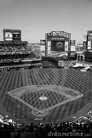 Citi Field - Black and White
