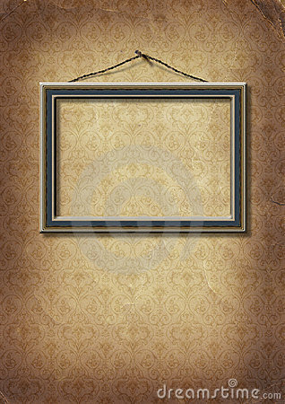 Frame hangs on an old wall