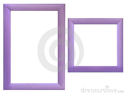 Set of wood frames