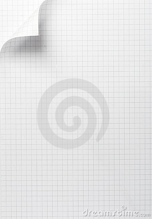 Notebook office blank  paper with curl