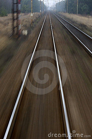 simulation of speed on a rail road