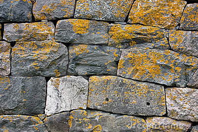 Old Grey Stone Wall