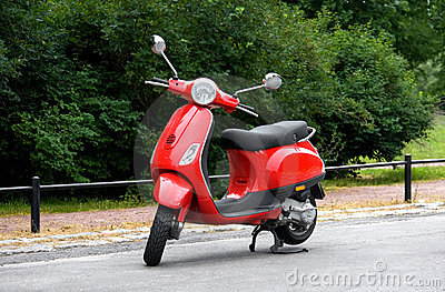 One Red Scooter