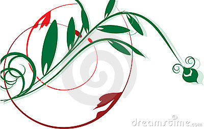 Green and red  decorative design