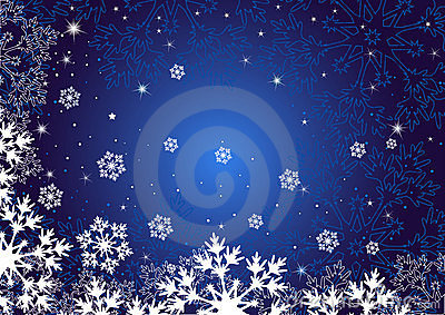 Winter dark blue background