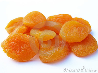 Group of dried apricots
