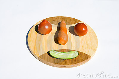 Vegetable smiley